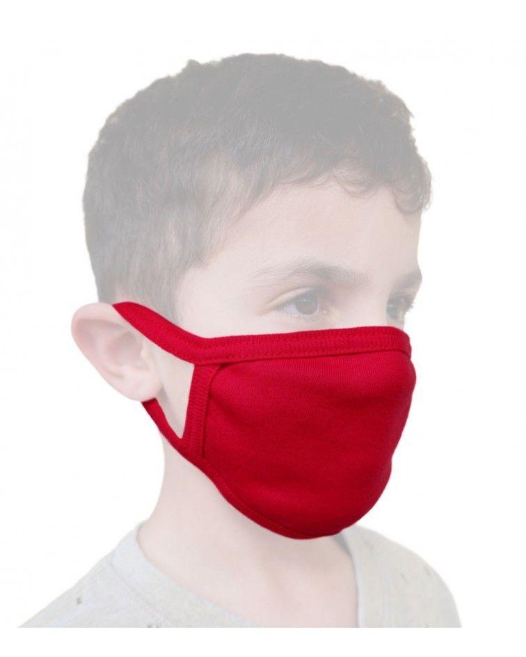 Παιδική - Εφηβική Βαμβακερή Μάσκα, κόκκινη