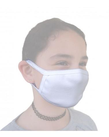 Παιδική - Εφηβική Βαμβακερή Μάσκα, λευκή