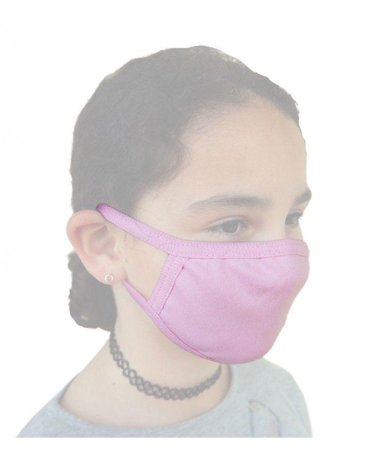 Παιδική - Εφηβική Βαμβακερή Μάσκα, ροζ