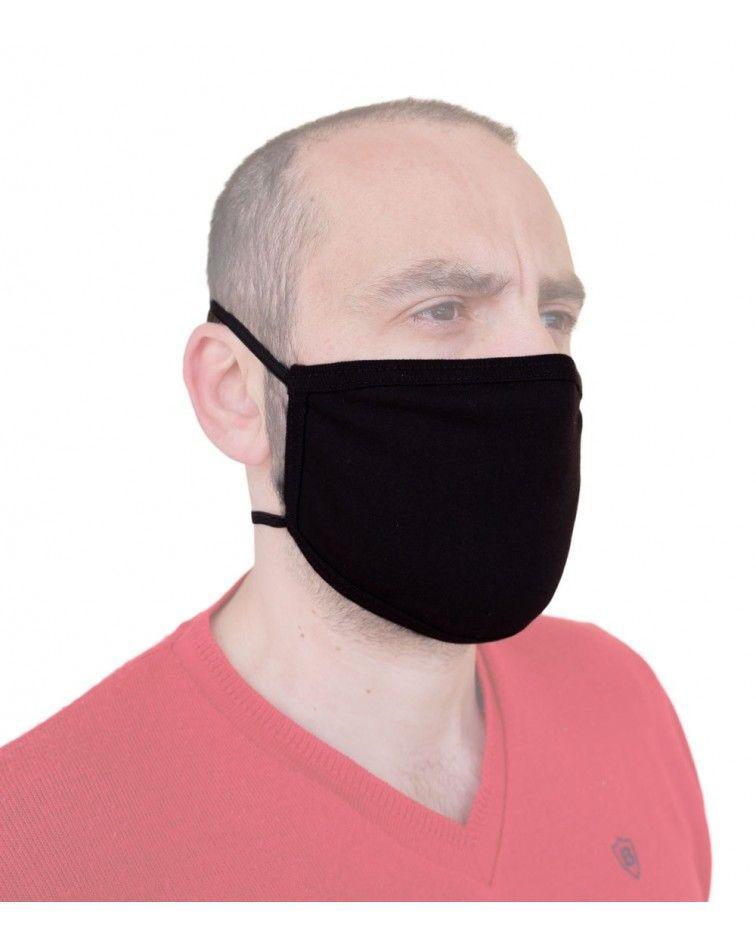 Επαγγελματική Υφασμάτινη Επαναχρησιμοποιούμενη προστατευτική Μάσκα Βαμβακερή με λάστιχο