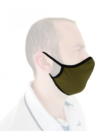 Βαμβακερή Υφασμάτινη Επαναχρησιμοποιούμενη προστατευτική Μάσκα με λάστιχο