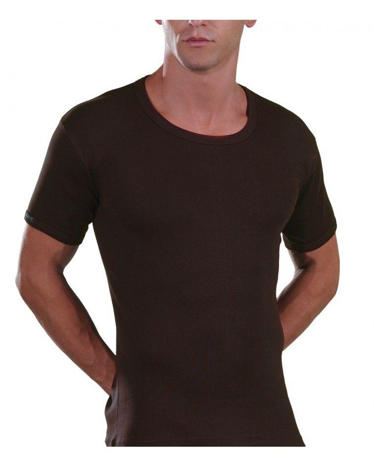 Open Neck T-Shirt, brown