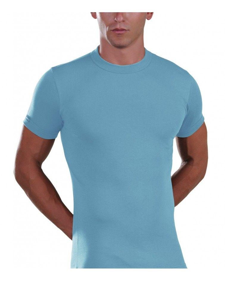 Men, T-Shirt, Elastic, ciel