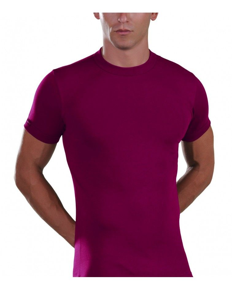Men, T-Shirt, Elastic, raspberry