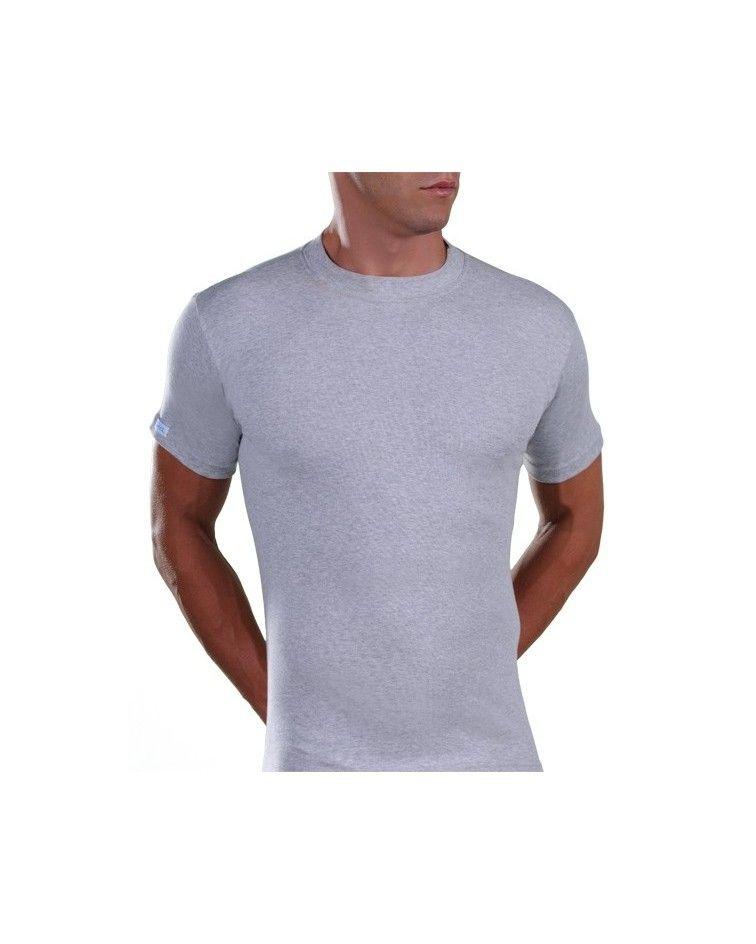 Men, T-Shirt, Elastic, grey melanze