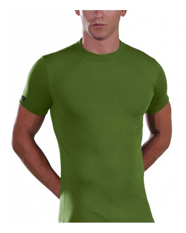 T-Shirt, crew neck, green