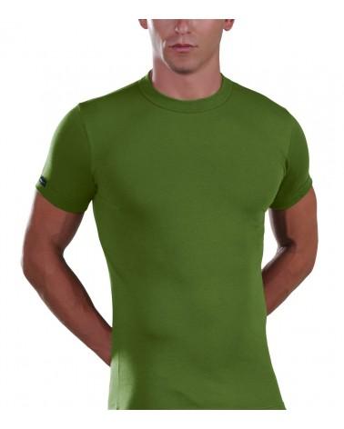 T-Shirt, crew neck, green