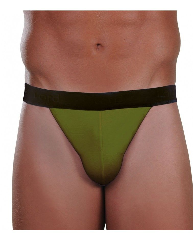 Brief Tanga, bicolor, green