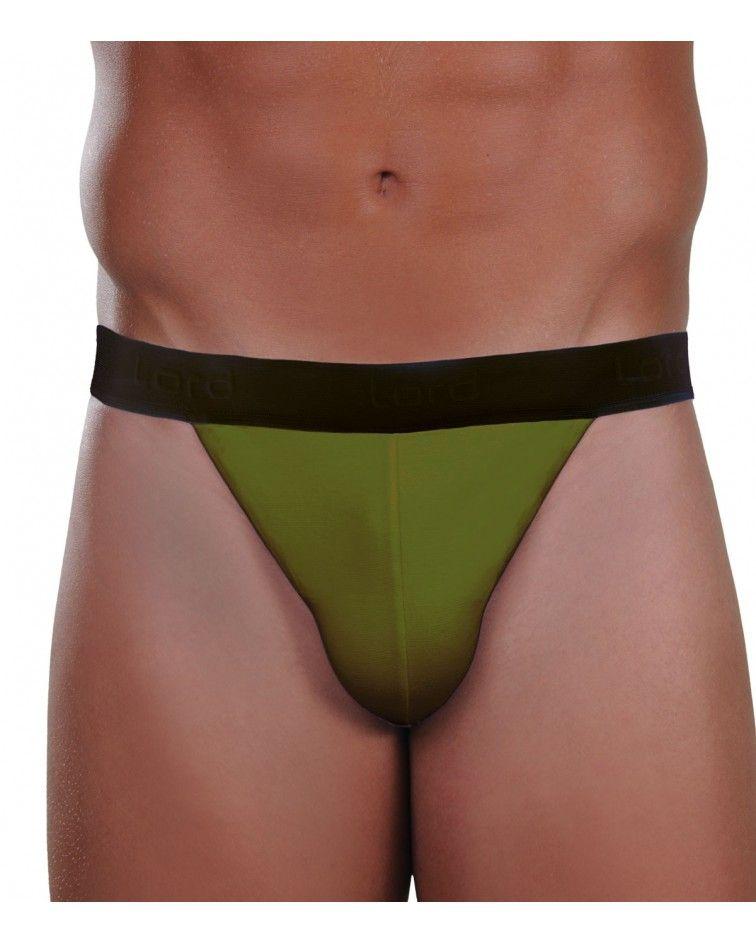 Σλιπ tanga, διχρωμο, πράσινο