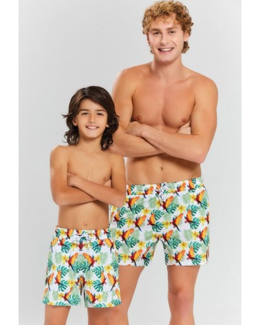 Men swimwear, parot