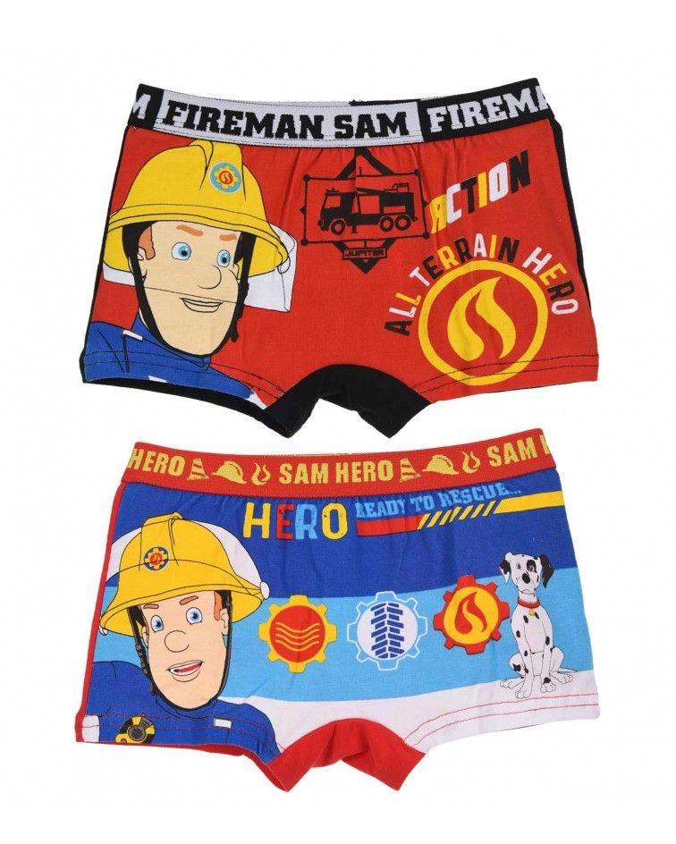 Αγοριών boxer Fireman 2τεμ, λευκό