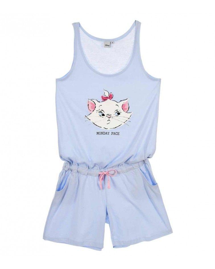 Γυναικείo Homewear Cats, σιέλ