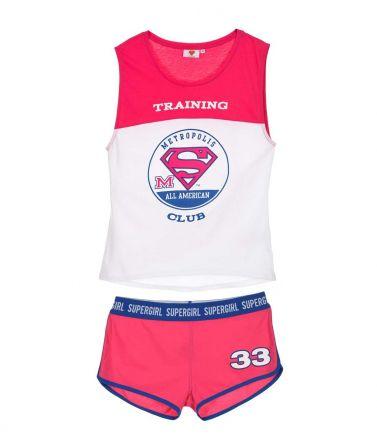 Γυναικείo Homewear Superman, ροζ