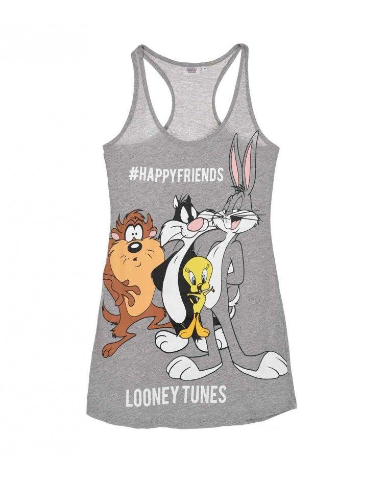 Γυναικεία Νυχτικιά Looney Tunes, λευκό