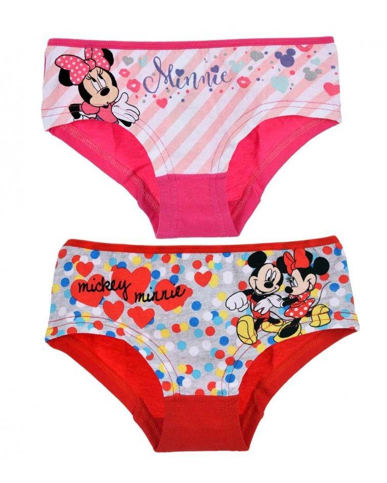 Κοριτσιών κυλοτάκια Minnie 2 τεμ, ΡΟΖ