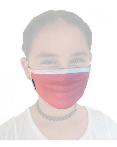 Παιδική Υφασμάτινη Μάσκα με λάστιχο, ροζ