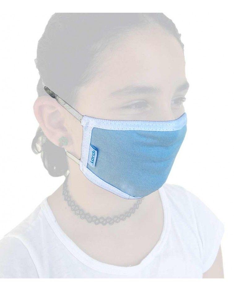 Παιδική Υφασμάτινη Μάσκα με λάστιχο, σιελ