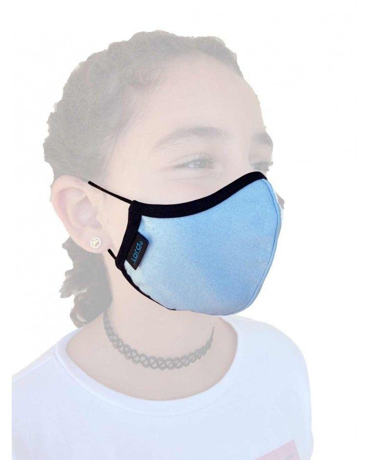 Παιδική Μάσκα με λάστιχο, βαμβακερή, σιέλ