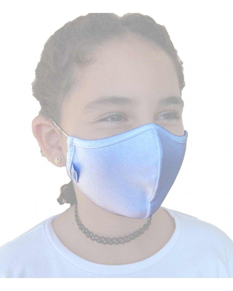 Παιδική Μάσκα με λάστιχο, βαμβακερή, λευκο