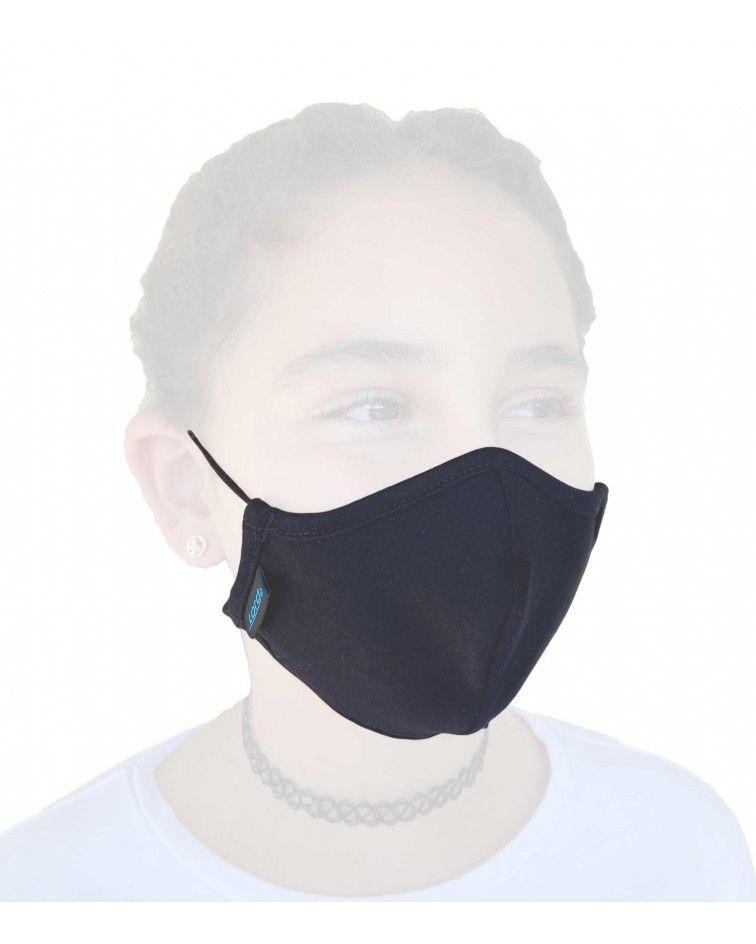 Παιδική Μάσκα με λάστιχο, βαμβακερή, μαύρο2