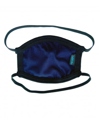 Professional Cotton reusable Mask with rubber band, blue