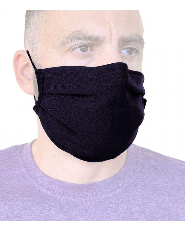 Βαμβακερή Μάσκα με έλασμα, μαύρη