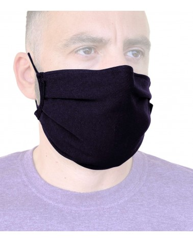 Cotton reusable Mask with wire, black