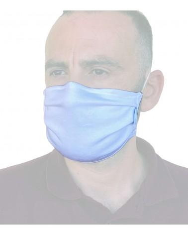 Βαμβακερή Μάσκα με έλασμα, λευκή