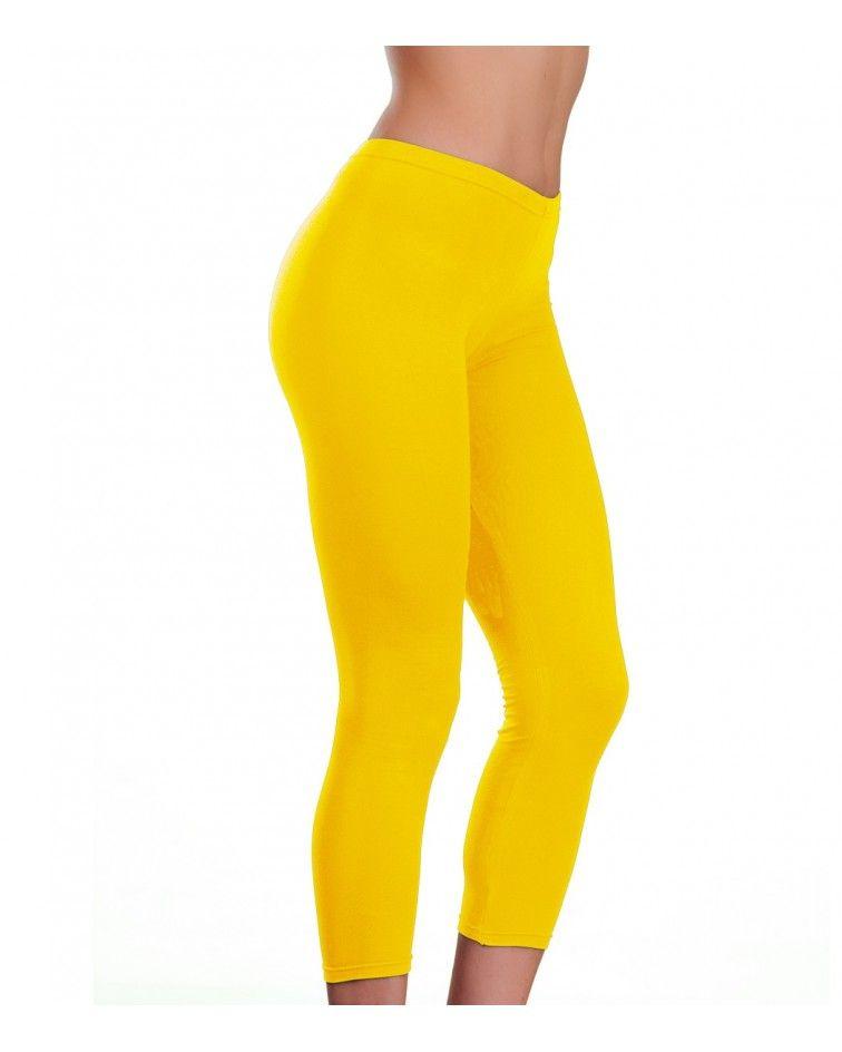 Collant under knee, yellow