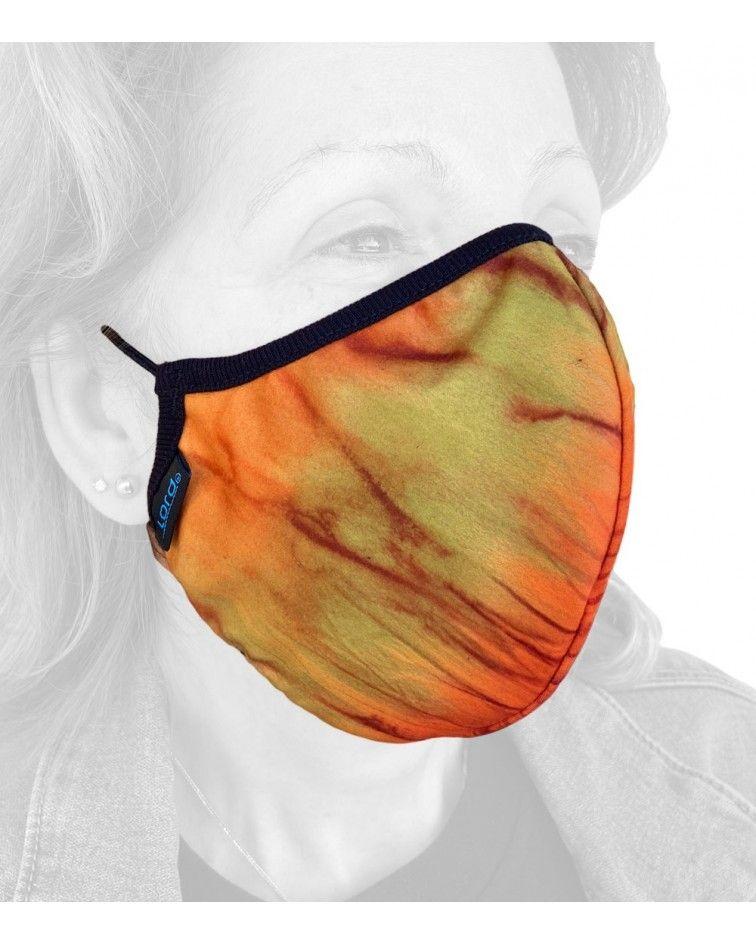 Βαμβακερή Μάσκα, λάστιχο, πορτοκαλί