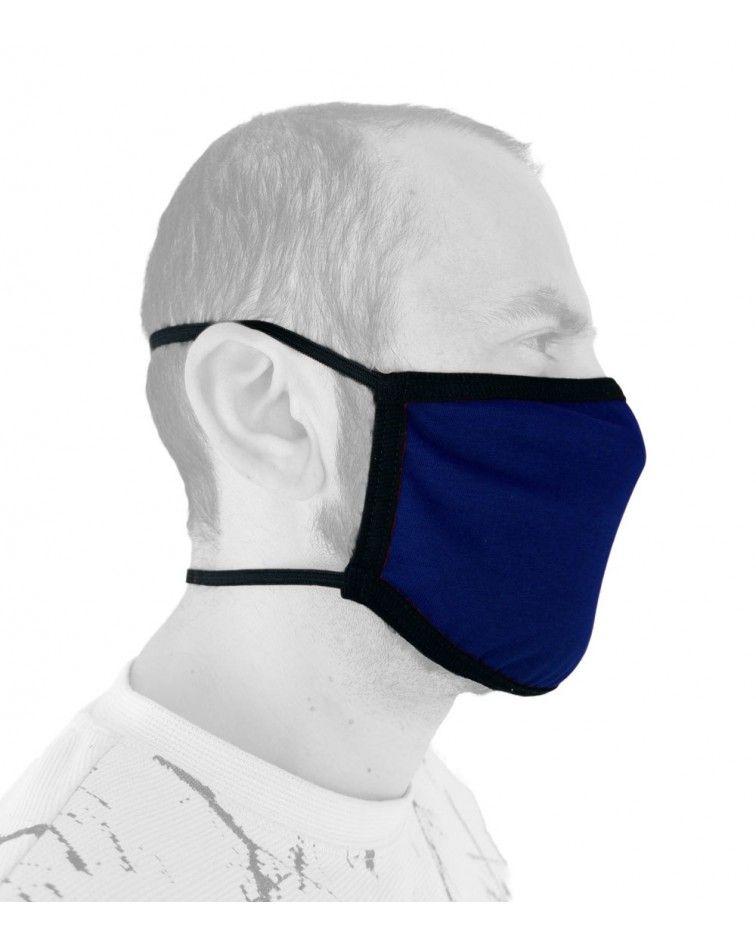 Επαγγελματική Υφασμάτινη Βαμβακερή Μάσκα με λάστιχο, μπλε