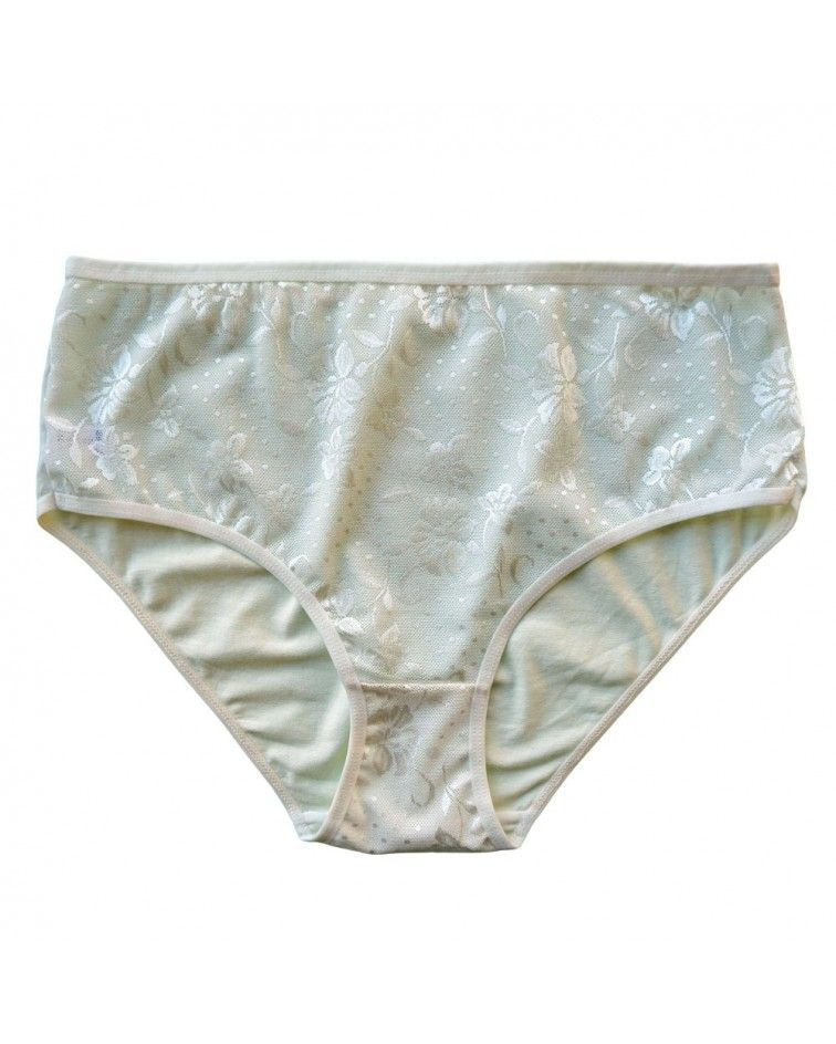 Women panty, elastic, lace, white