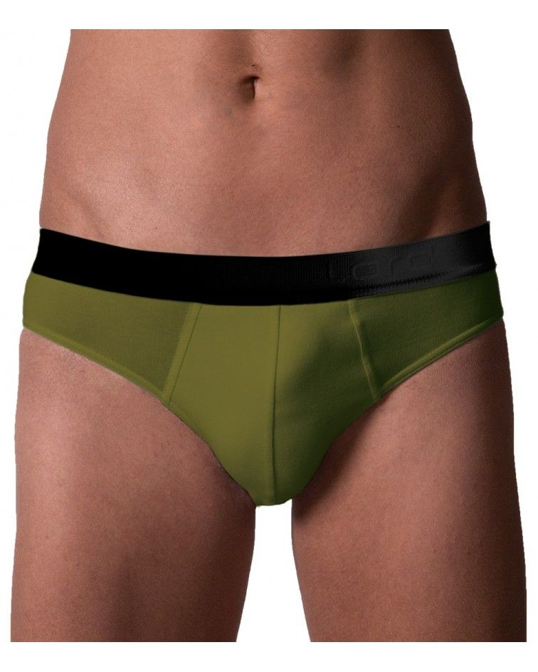 Brief, Black Ext.Rubber, green