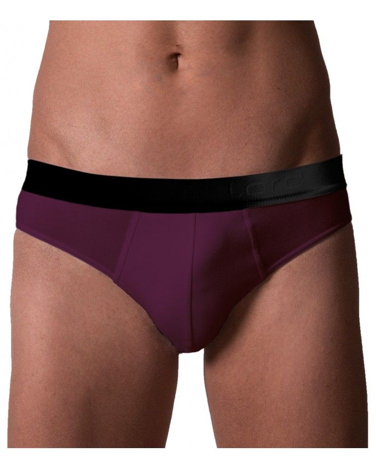 Brief, Black Ext.Rubber, raspberry