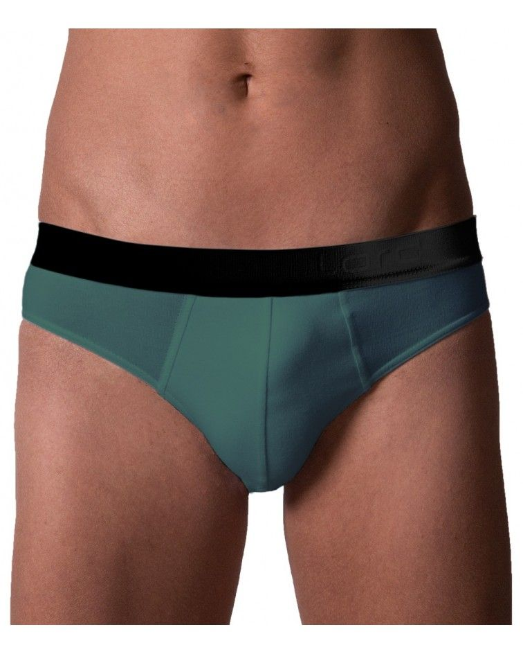 Brief, Black Ext.Rubber, teal