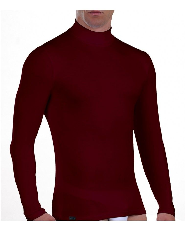 Men turtle neck, Long Sleeve, cherry