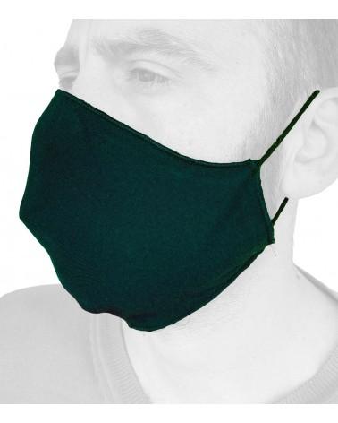 Βαμβακερή Μάσκα με λάστιχο, μαύρη