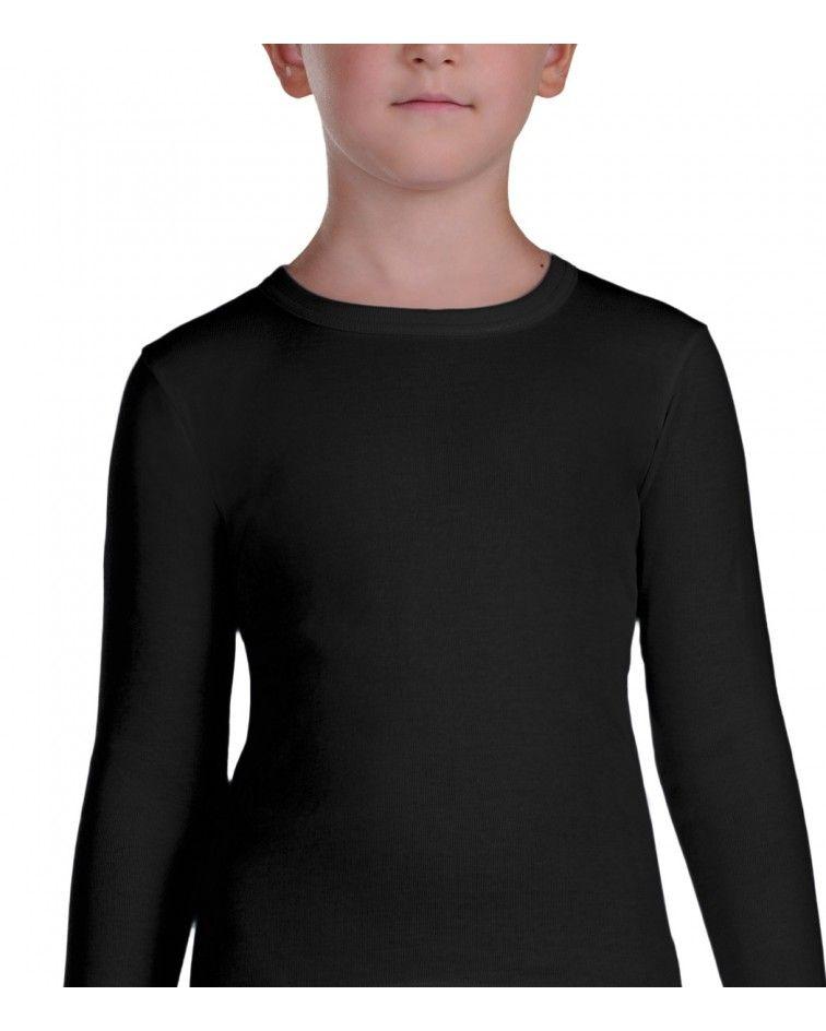 Παιδική Φανέλα Μακρυμάνικη, μαύρο