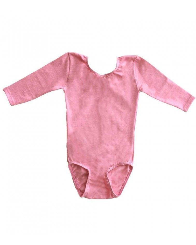Κοριτσιών κορμάκι μπαλέτου ενόργανης 3/4, ροζ