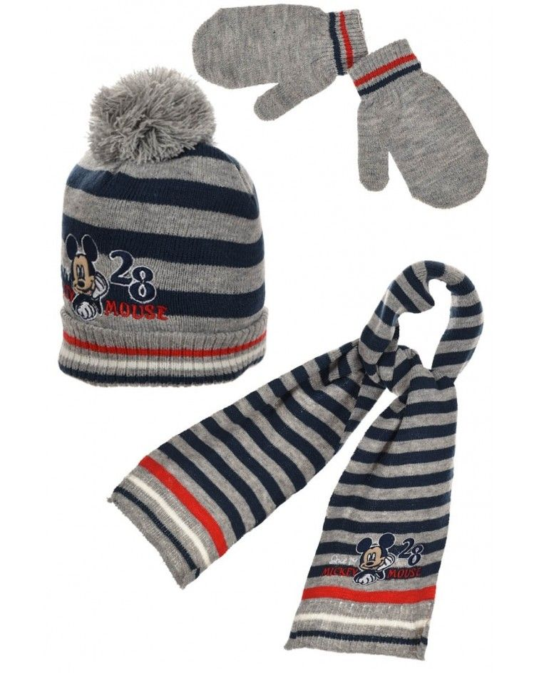 Disney Set, hat, pair of gloves and a scarf