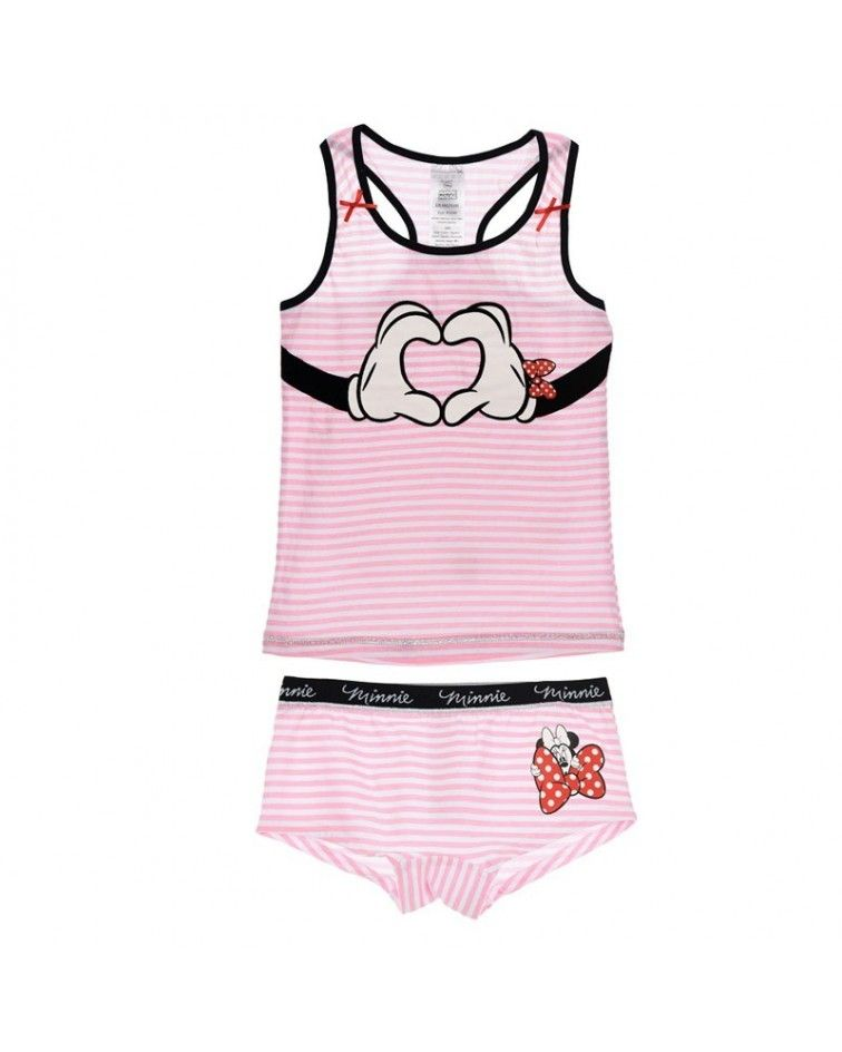 Girls Camisole-Boxer, Minnie