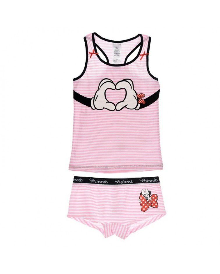 Κοριτσιών Τιράντα-μποξεράκι, Minnie, ροζ