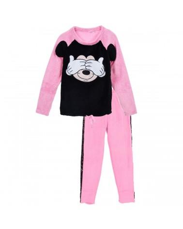 Γυναικεία Πιτζάμα Mickey ροζ