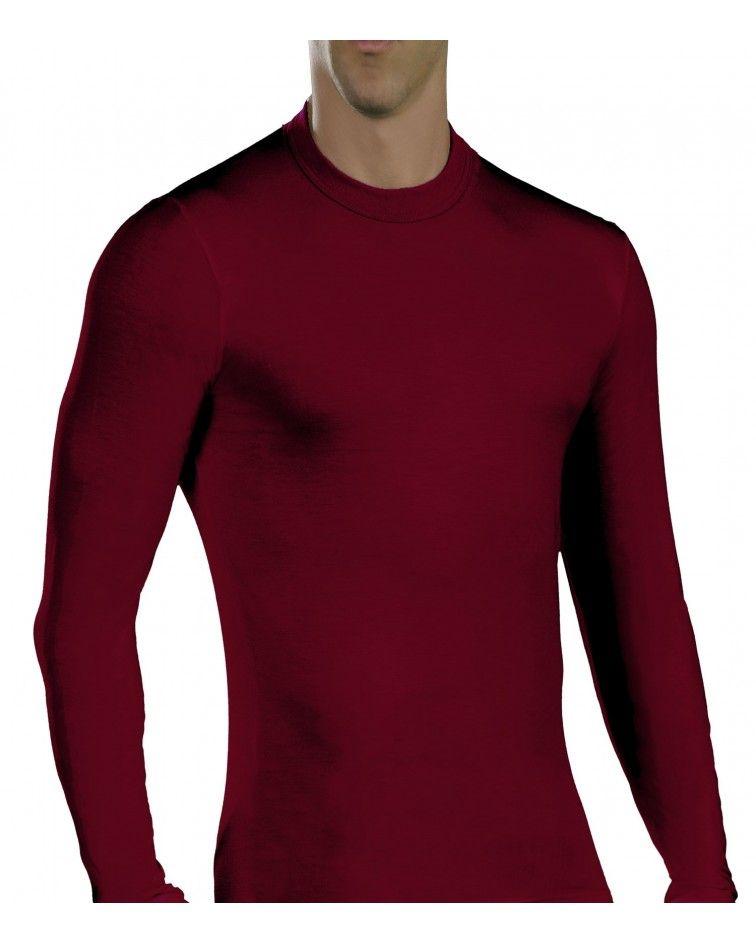 Ανδρική Μπλούζα, μακρύ μανίκι, ελαστική, βυσσινή