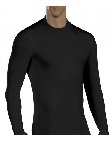 Men, Long Sleeve, elastic, Viscose, black