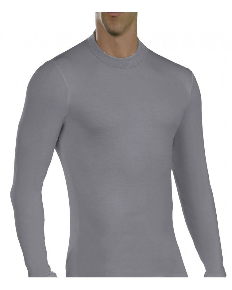 Men, Long Sleeve, elastic, Viscose, grey