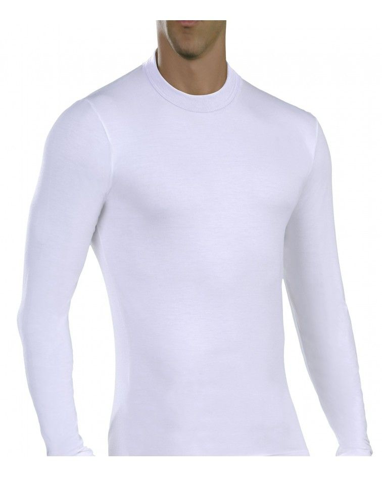 Men, Long Sleeve, elastic, Viscose, white