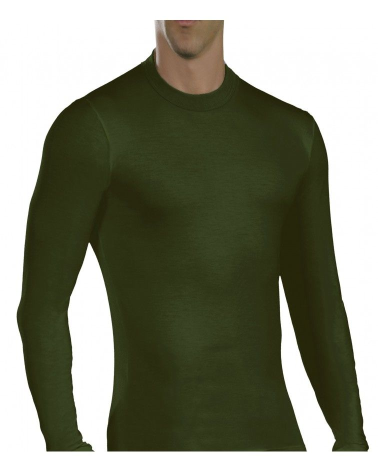 Men, Long Sleeve, elastic, Viscose, khaki