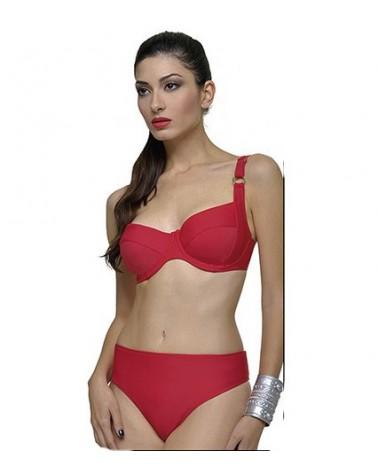 Swimwear Μαγιό Γυναικείο Μπικίνι, Κλασσικό Κόκκινο, Μεγάλα μεγέθη- 1
