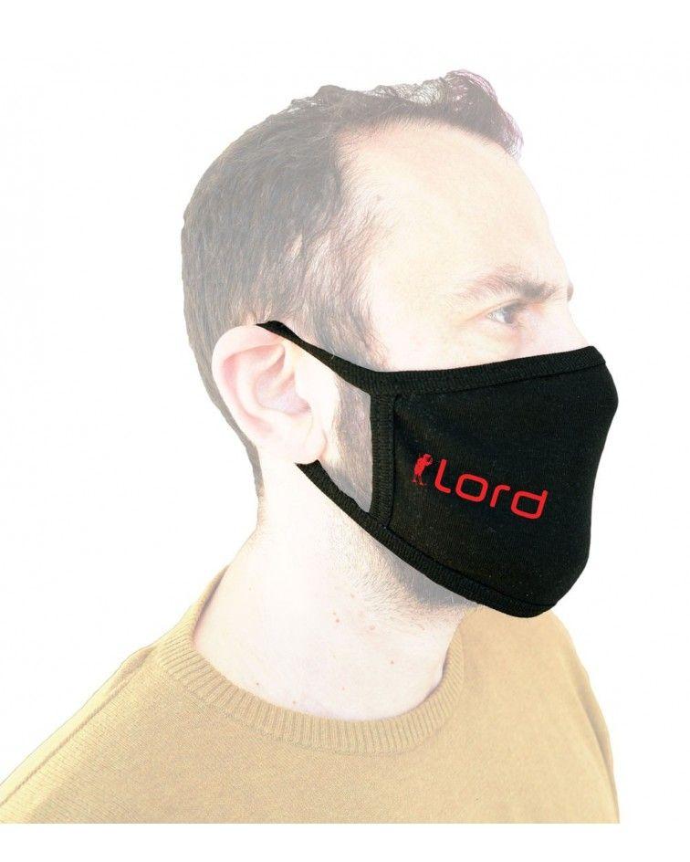 Υφασμάτινη Βαμβακερή Μάσκα επαναχρησιμοποιούμενη, μαύρη